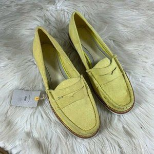 GAP NWT Yellow Suede Penny Loafer Size 37 6 Mustar
